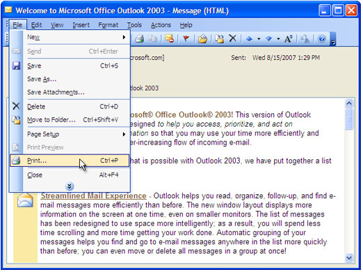 how to convert outlook email to jpeg universal document converter